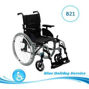 Alquilar silla de ruedas manual de aluminio para las vacaciones en Gran Canaria