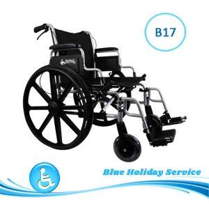 Alquilar silla de ruedas manual con frenos de acompañante para las vacaciones en Gran Canaria